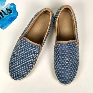 Splendid Slip-On Sneakers/Woven Denim/Size 10